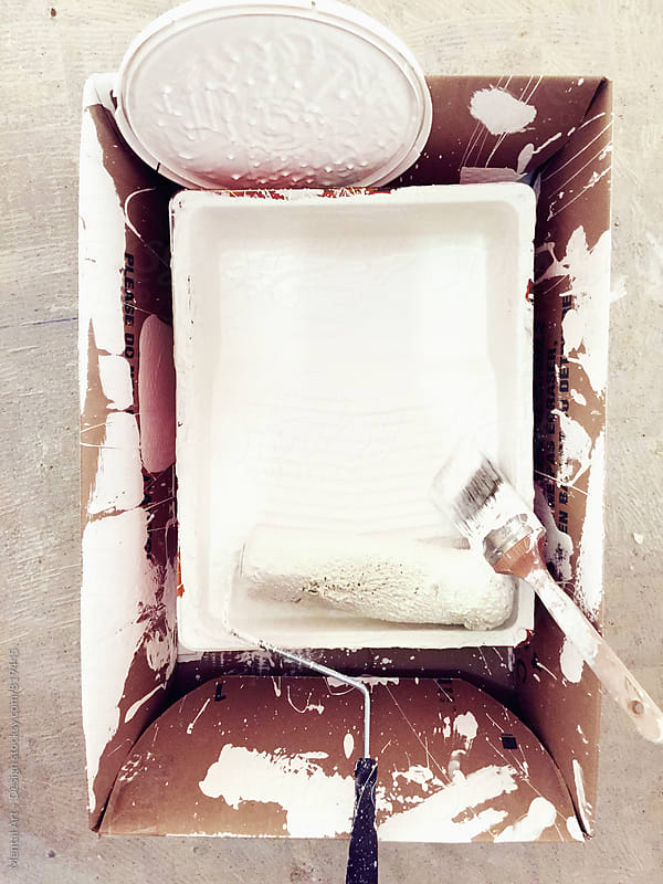 Paint Tray and Roller by Mental Art + Design for Stocksy United