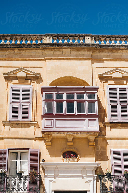 Traditional Maltese building by Sam Burton for Stocksy United