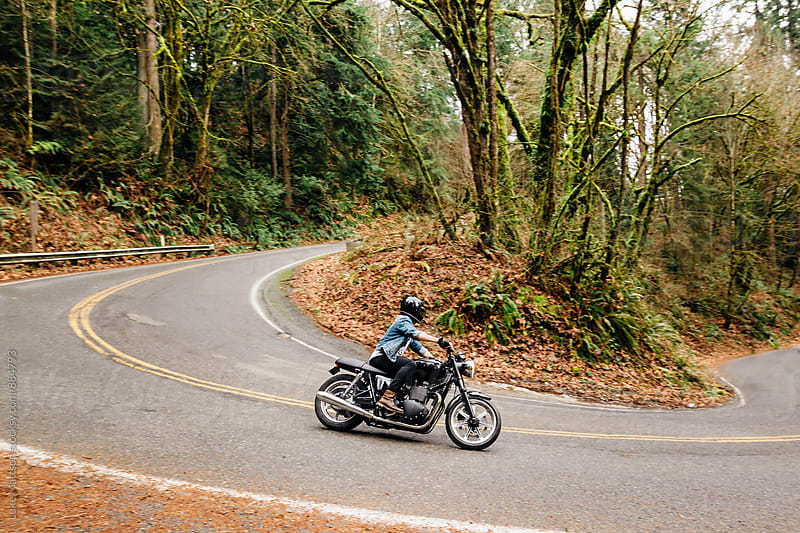 Café Racer Motorcycle Rider by Luke Mattson for Stocksy United
