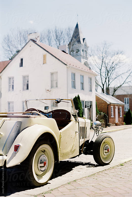 Classic Car in front of General Store by Joey Pasco for Stocksy United