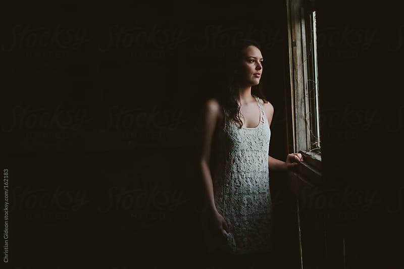 Window Portrait by Christian Gideon for Stocksy United