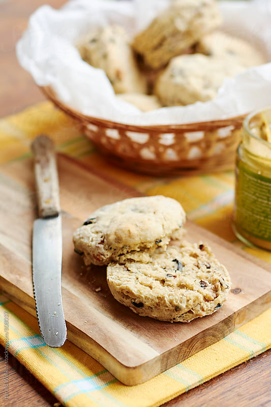 Olive Walnut Biscuits by Harald Walker for Stocksy United