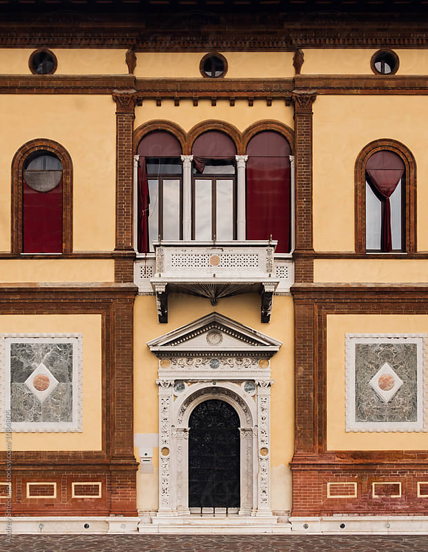 Building neo-classical facade.Venice/italy by Marko Milanovic for Stocksy United