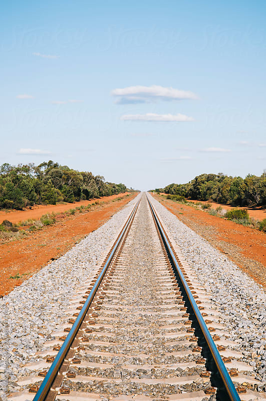 Train tracks near Conoble, New South Wales, Australia. by Thomas Pickard for Stocksy United