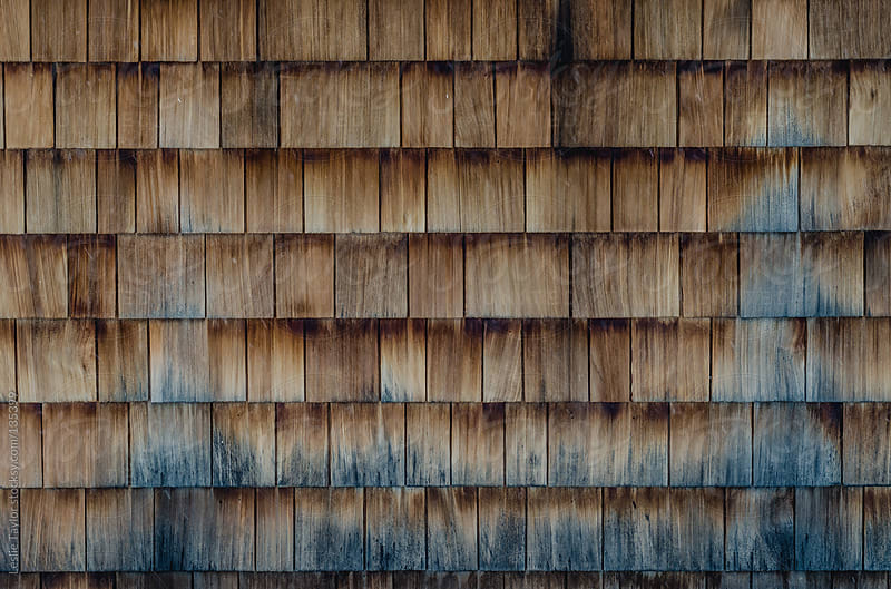 Wooden House Tiles by Leslie Taylor for Stocksy United