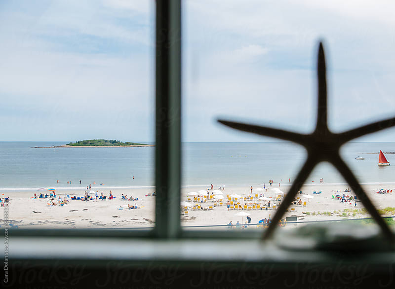 View from the beach house window by Cara Dolan for Stocksy United