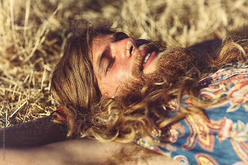 Young Hippie Daydreaming by Marija Savic for Stocksy United