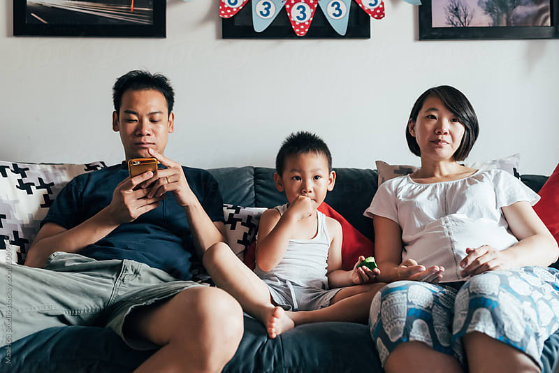 Father,mother and son at home by MaaHoo Studio for Stocksy United