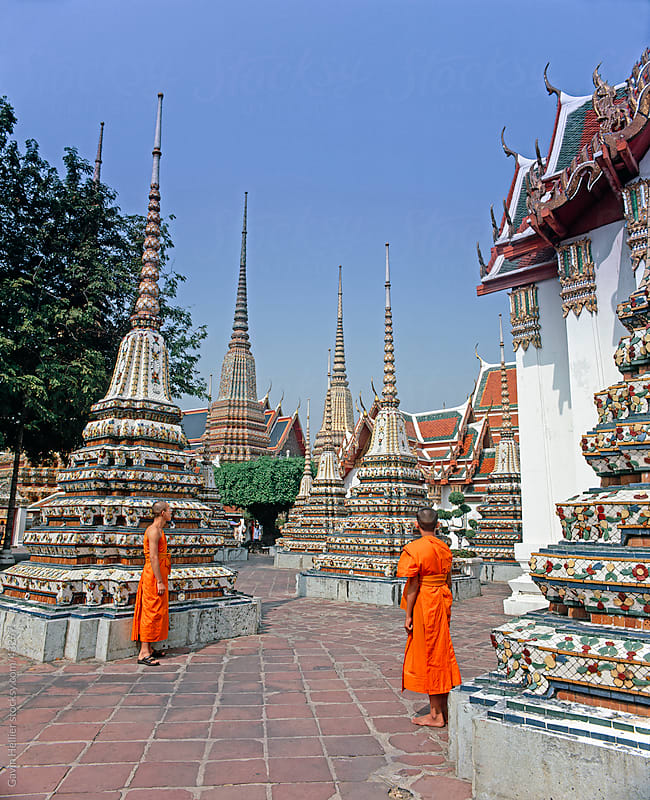 Wat Pho, Bangkok, Thailand, Southeast Asia, Asia by Gavin Hellier for Stocksy United
