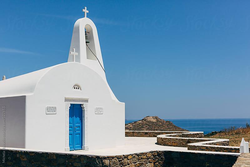 Orthodox church in Mykonos by michela ravasio for Stocksy United