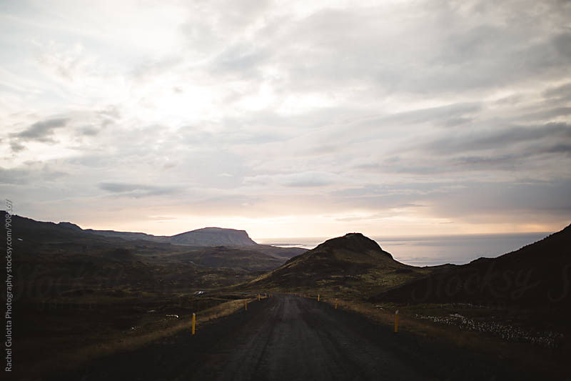 Open Road in Iceland by Rachel Gulotta Photography for Stocksy United