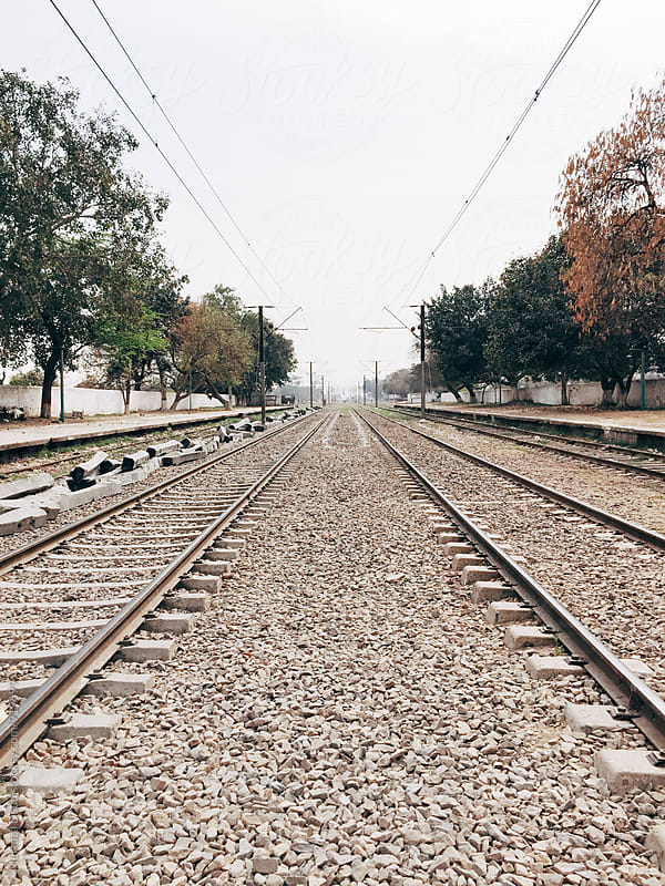 An infinite view of Pakistani Railway Tracks by Murtaza Daud for Stocksy United