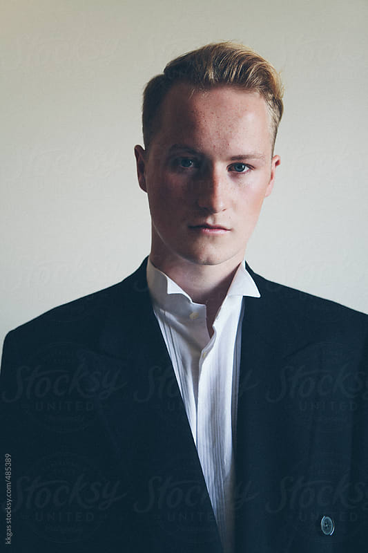 Portrait of a Stylish blonde man by kkgas for Stocksy United