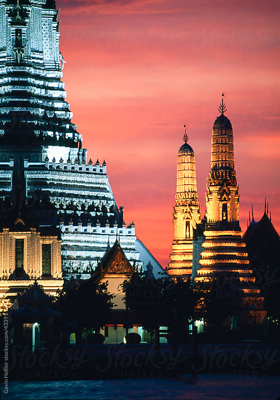 Wat Arun (Temple of Dawn), Bangkok, Thailand, Asia by Gavin Hellier for Stocksy United