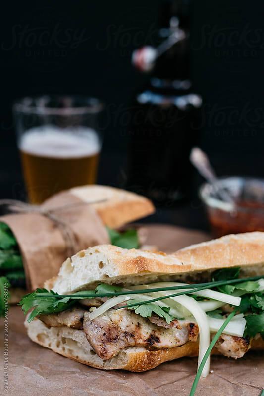 Traditional Banh Mi Vietnamese sandwich by Gabriel (Gabi) Bucataru for Stocksy United