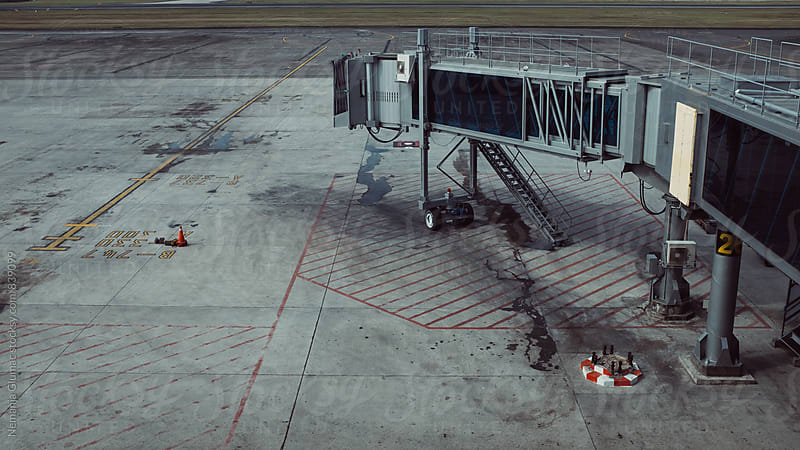 Jet Bridge at Empty Airport by Nemanja Glumac for Stocksy United