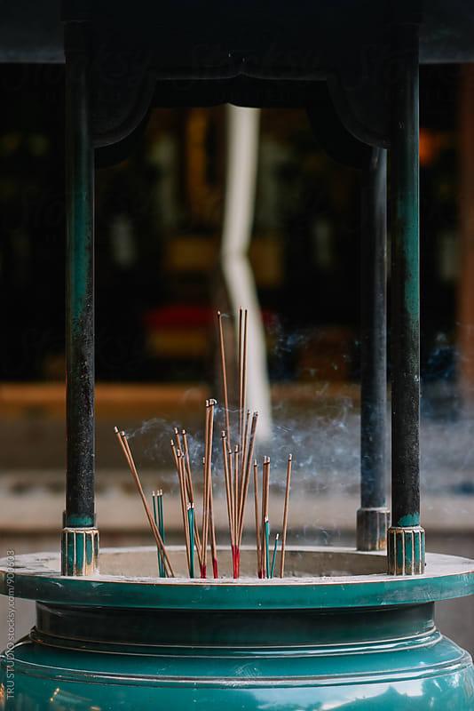 Incense burning in Japan by TRU STUDIO for Stocksy United