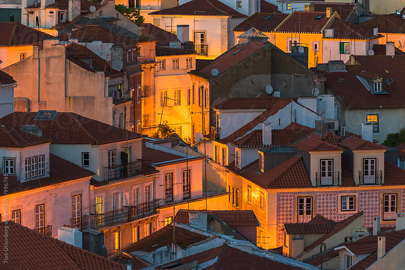 Lisbon, Portugal - Evening Cityscape of Alfama - the Oldest Part of the City by Tom Uhlenberg for Stocksy United