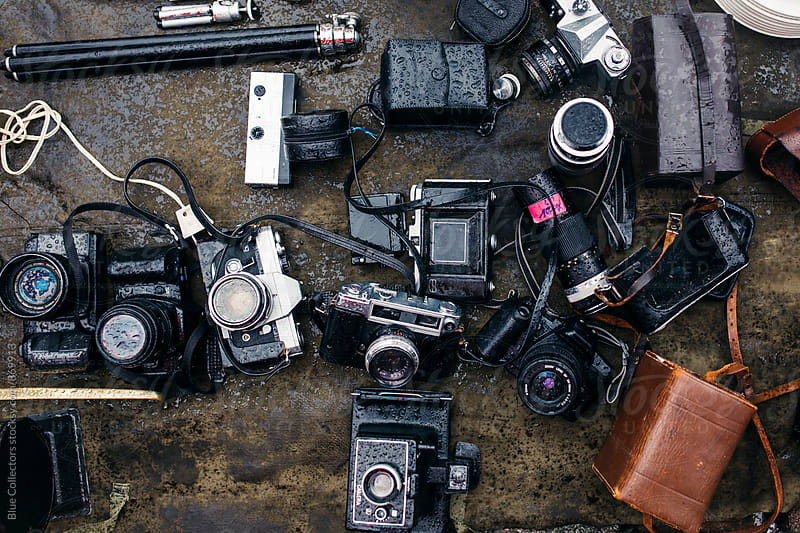 Wet cameras by Jordi Rulló for Stocksy United
