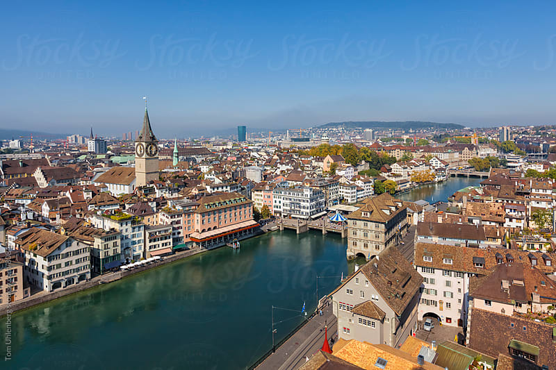 Zurich, Switzerland - City Panorama with the River Limmat by Tom Uhlenberg for Stocksy United