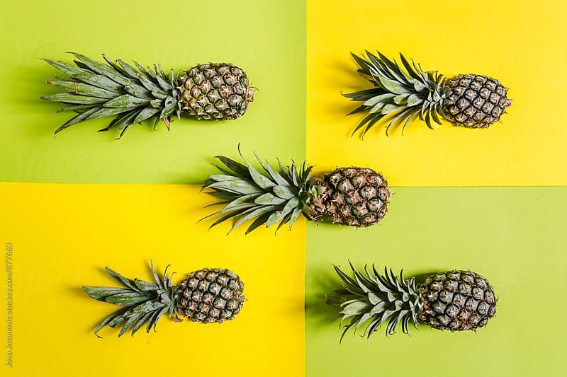 Five pineapples  by Jovo Jovanovic for Stocksy United