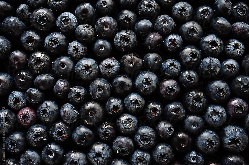 An Ocean of Blueberries, Background by Claudia Lommel for Stocksy United