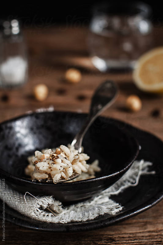 Lemon and coffee risotto by Federica Di Marcello for Stocksy United
