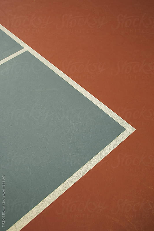 Tennis court surface by Danil Nevsky for Stocksy United