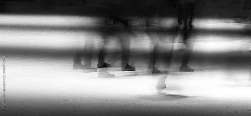 People Ice Skating Abstract by Studio Six for Stocksy United