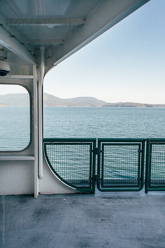 Side Rail And Enclosure On Upper Deck of Passenger Ferry Boat by Luke Mattson for Stocksy United