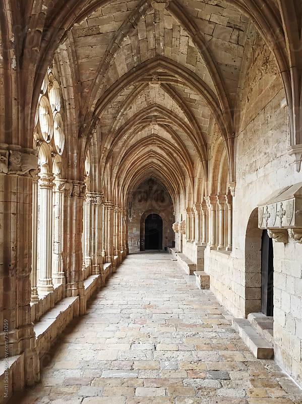 Santes Creus monastery cloisters by Martí Sans for Stocksy United