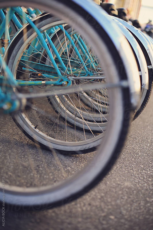 Turquoise Bicycle Wheels by ALICIA BOCK for Stocksy United