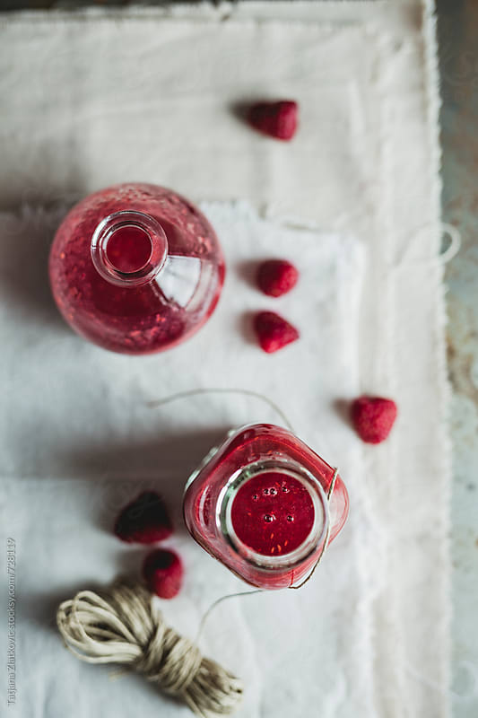 Raspberry smoothie by Tatjana Ristanic for Stocksy United