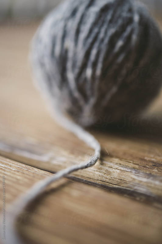 ball of grey yarn by Samantha Wesselhoft for Stocksy United