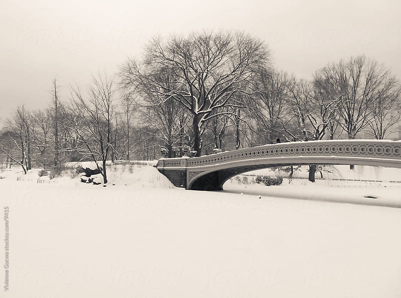 Winter Landscape - Snow Covered Bridge by Vivienne Gucwa for Stocksy United
