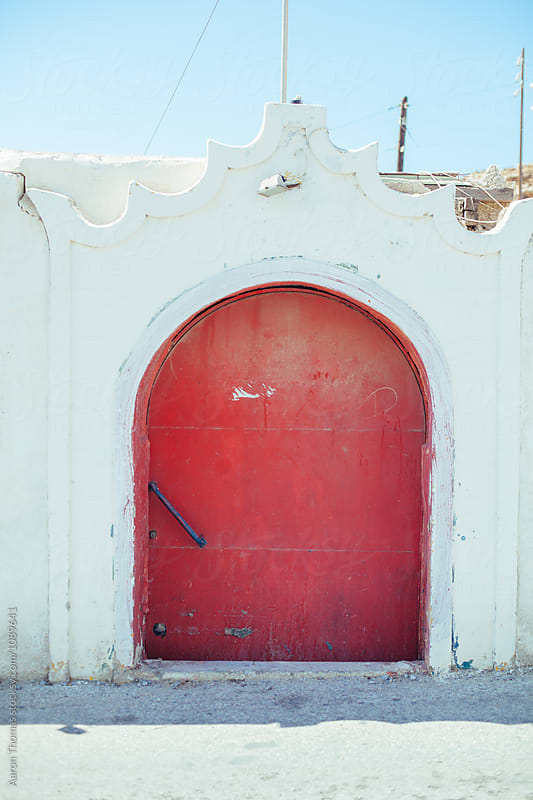 Red Door by Aaron Thomas for Stocksy United