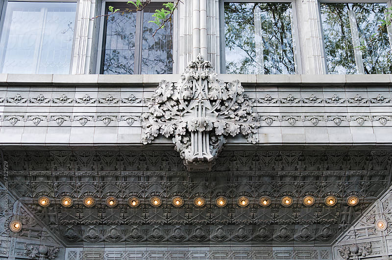architectural details of a building facade by Margaret Vincent for Stocksy United