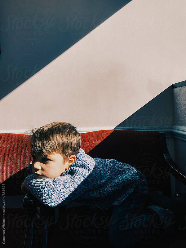 Bored Child In the Doctors Waiting Room by Cameron Whitman for Stocksy United