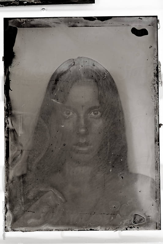 experimental tintype portrait by rolfo for Stocksy United
