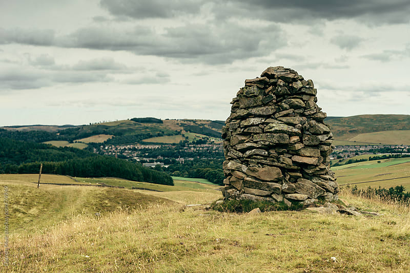 Stone cairn. by Darren Muir for Stocksy United