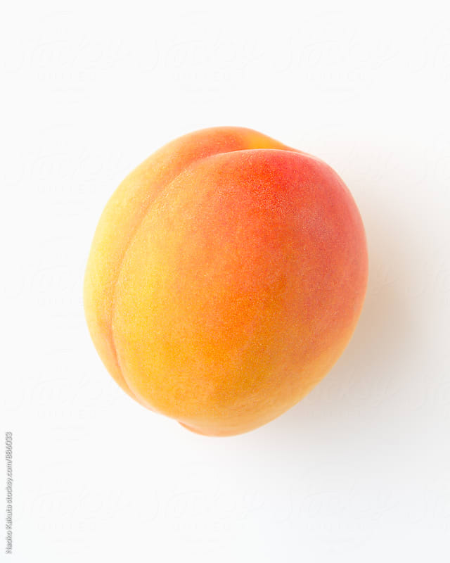 ripen apricot on white background by Naoko Kakuta for Stocksy United