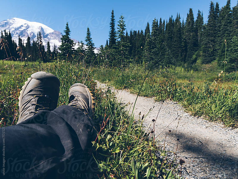 relax at MT Rainier by yuanyuan xie for Stocksy United