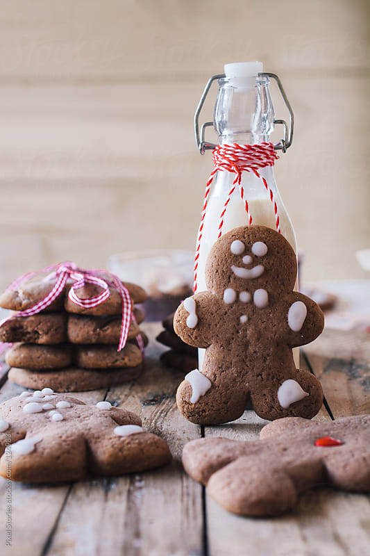 Gingerbread man cookies by Pixel Stories for Stocksy United