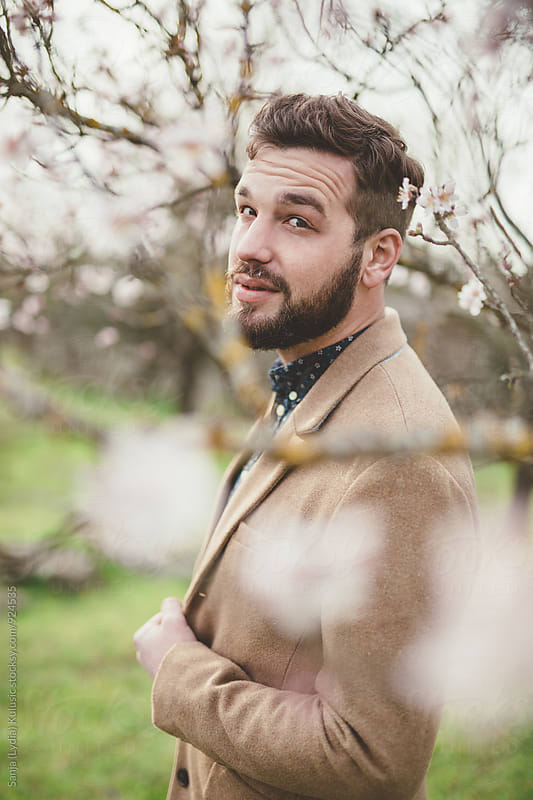 Handsome fashionable guy with a beard by Sanja (Lydia) Kulusic for Stocksy United