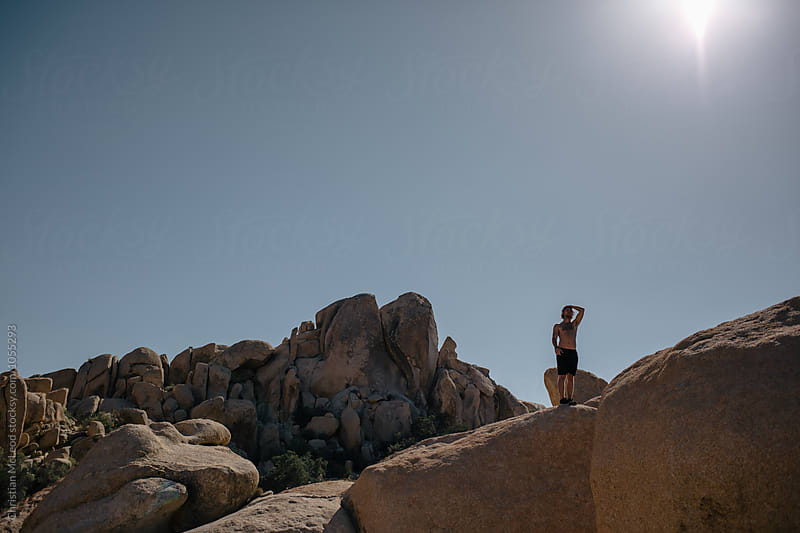 Exploring Joshua tree. by Christian McLeod for Stocksy United