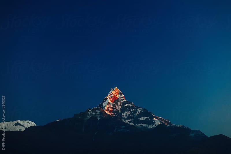 Sunrise in Himalaya by Artem Zhushman for Stocksy United