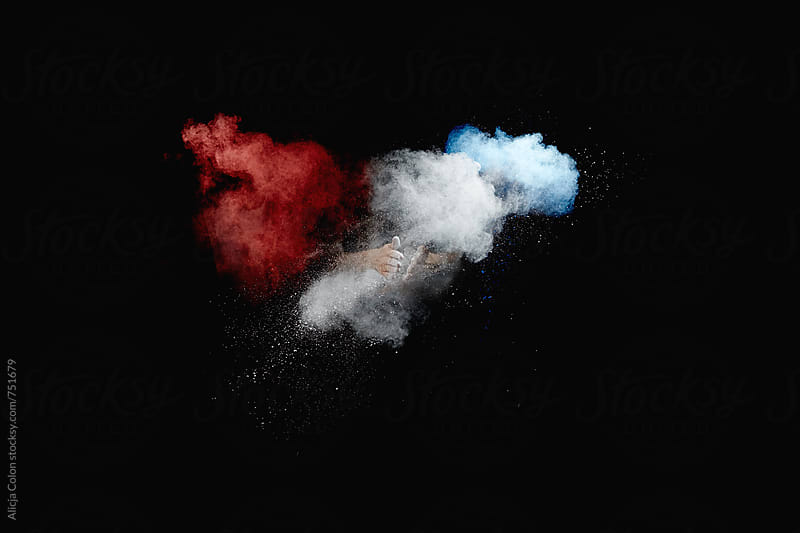 Red, White, and Blue Powder by Alicja Colon for Stocksy United