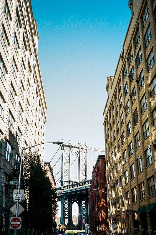 Manhattan Bridge from Dumbo by Cameron Whitman for Stocksy United