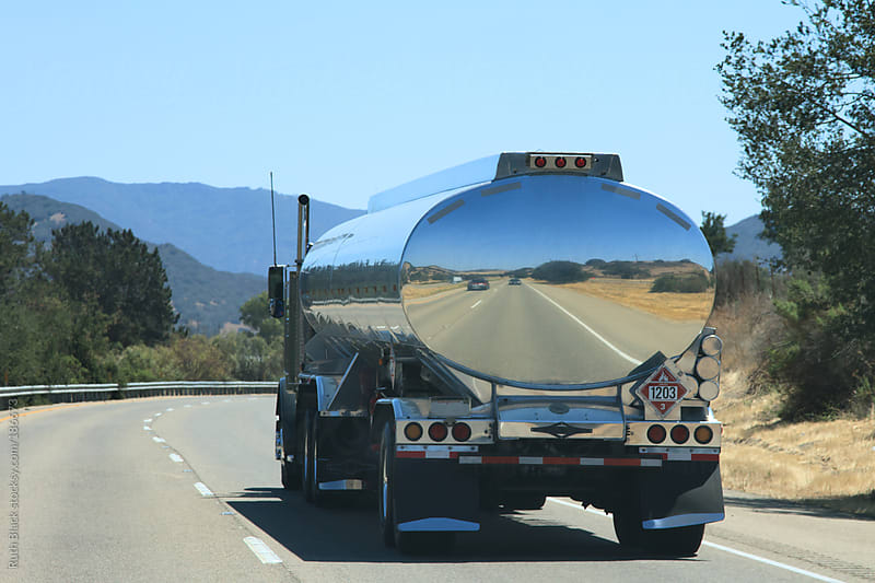Tanker on the Pacific Coast Highway by Ruth Black for Stocksy United