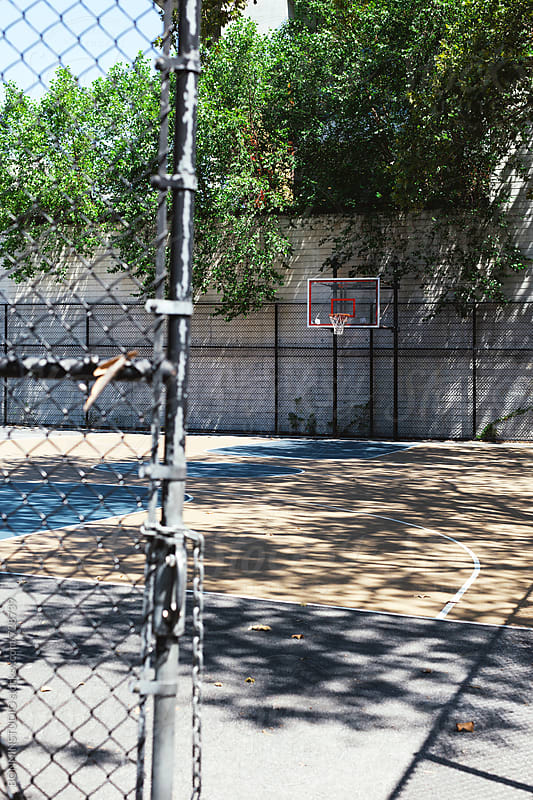 Urban basketball court. by BONNINSTUDIO for Stocksy United